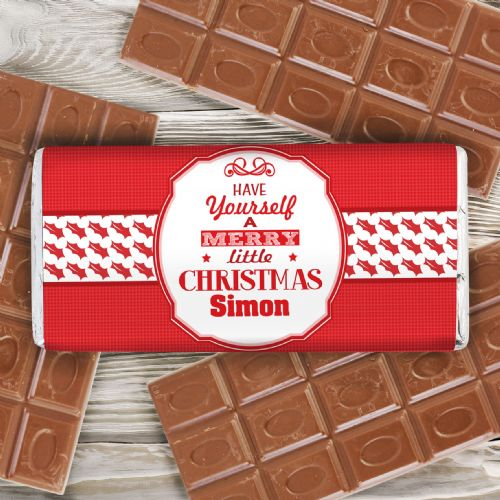 Personalised Have Yourself A Merry Little Christmas Chocolate Bar